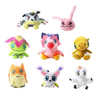 8 Peluches Digimon Patamon Gatomon Agumon