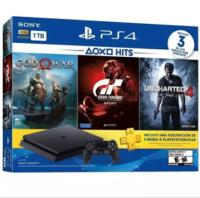 Ps4, Playstation 4 Slim - 1 Tera + 3 Jogos Novo