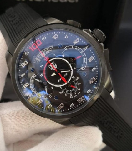 Relógio Masculino Tava 100 Preto Pulseira De Borracha