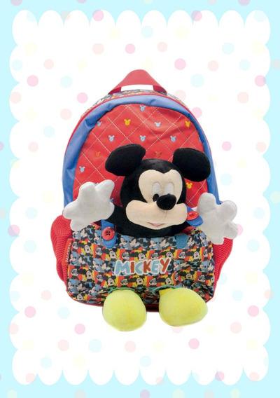 Mochila Personajes Mickey/minnie/peppa - Peluche Extraíble