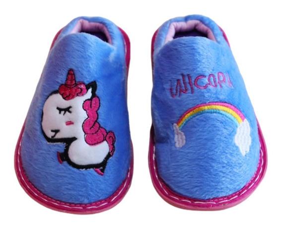 Pantufla Niños Nena Unicornio Suaves Antideslizante