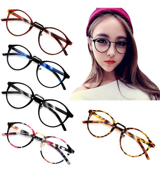 Armação Para Oculos De Grau Estilo Retrô Masculino Feminino