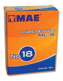 Ligas De Hule Del No. 18, 10 Cajas