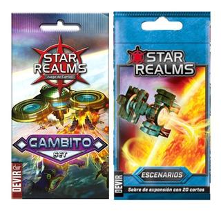 Star Realms Expansion Gambito Escenarios Cartas Lelab