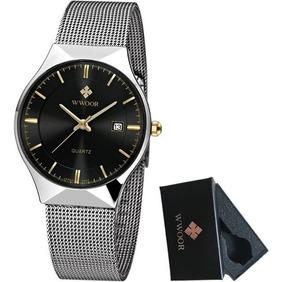Relógio Masculino Luxuoso Wwoor Com Caixa