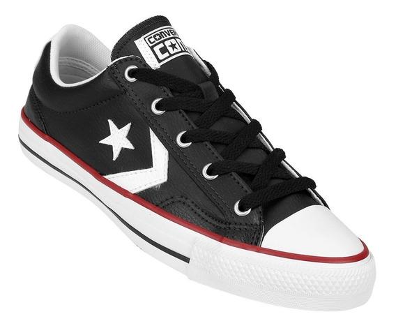 Converse Star Player Ox 2 Cuero Negro Unisex!! @