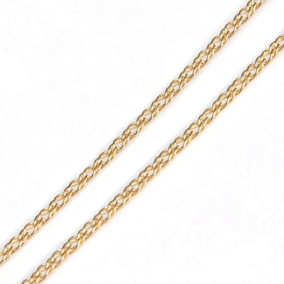 Corrente Em Ouro 18k Dupla 45cm