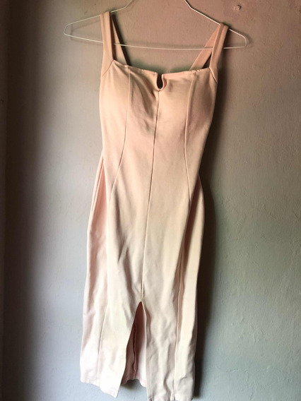 Vestido Largo Color Rosa Talla Chica (s) Marca Frikha