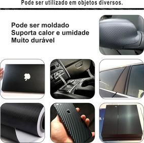 Adesivo Fibra Carbono 3d Celular Notebook Carro 1m X 60cm