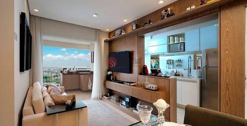 Apartamento Decorado E Mobiliado Com Varanda Gourmet, Do Lado Do Metrô Tatuapé  - Af22399