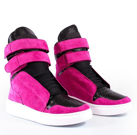 Sneaker 1802 Fitness Feminina Cheia De Marra Pink Preto