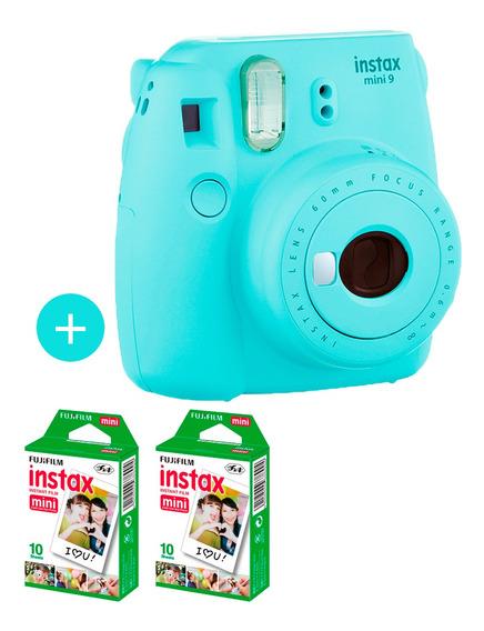 Câmera Instax Mini 9 Azul Aqua + 20 Fotos