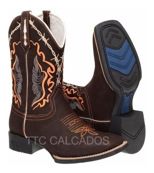 Bota Texana Country Bordada Modelo Novo Ttc114 Lançamento