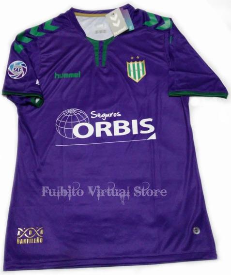 Camiseta Banfield Violeta Hummel Arquero Super Liga C/numero