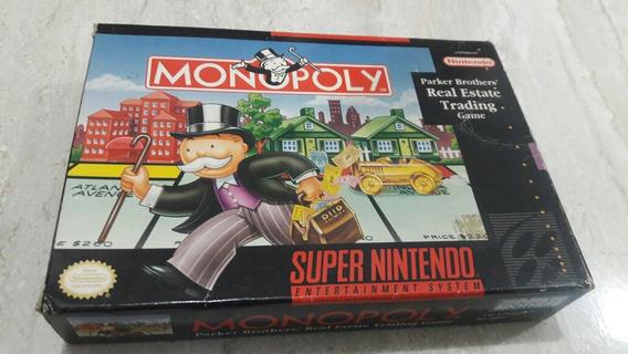 Monopoly Super Nintendo Completo Original Americano Snes
