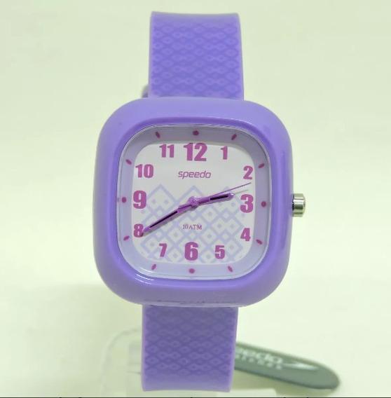 Relógio Feminino Speedo + Carregador 80561l0ebnp2 Roxo
