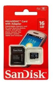 Cartão De Memória Micro Sd 16gb Sandisk 05 Peças Atacado
