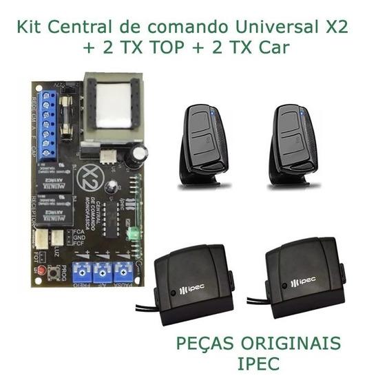 Placa Central P/ Motor Portão Ipec Light Blue 2tx + 2tx Car