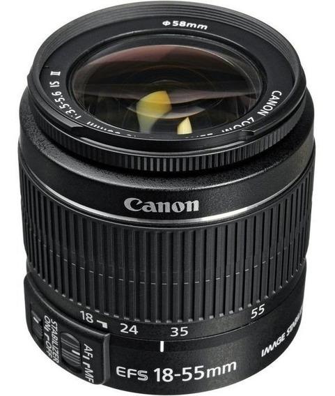 Lente Canon Ef-s18-55mm F/4-5.6is Li Stm C/parasol