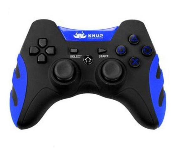 Controle joystick Knup KP-4032 azul