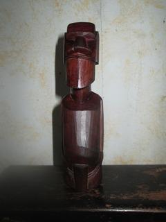 Moai Antiguo Isla De Pascua Madera Tallada Original