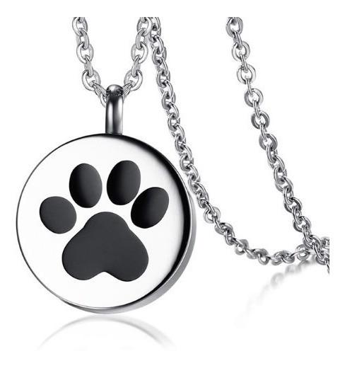Colar Feminino Gargantilha Patinha Animal Gato Cão Aço Inox