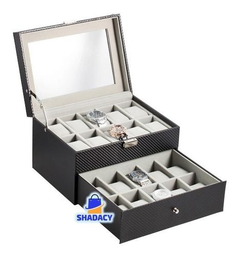 Caja Porta Relojes 20 Unidades Caja De Lujo Relojes
