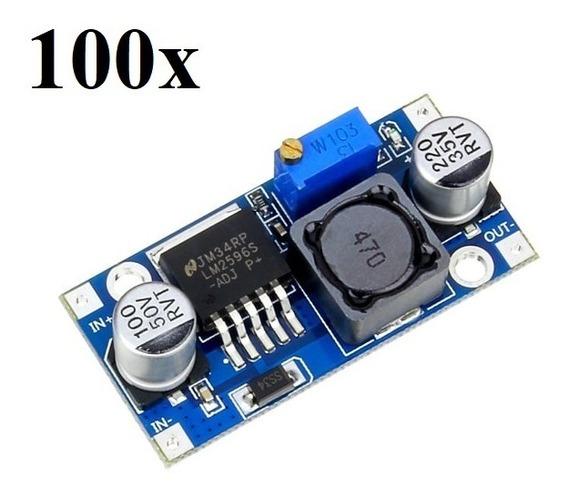 Lm2596 Conversor Dc Step Down Regulador Tensão 100 Unidades