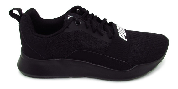 Tenis Puma Wired 366970 01 Black Negro Softfoam