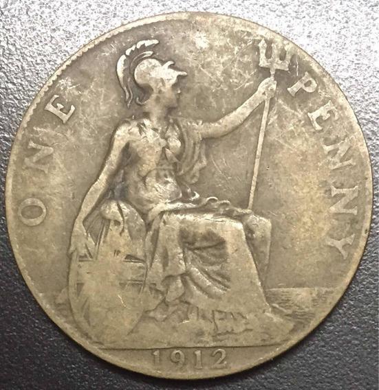 Onesmile:) Moneda De Gran Bretaña Año 1912 One Penny