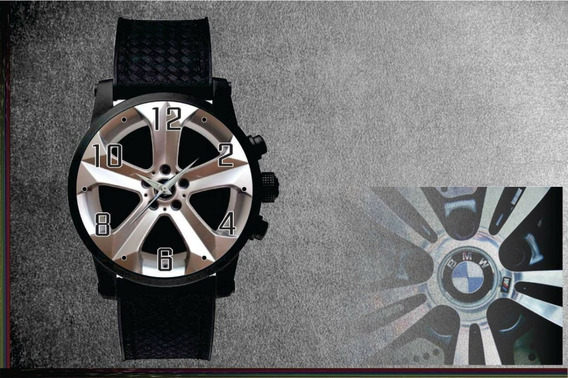 Relógio De Pulso Personalizado Roda Carro Sport- Cod.bwrp006