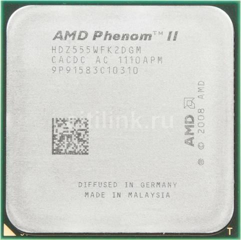 Processador Amd Am3 Ii X2 555be Com A Placa Ucc Ele Vira B55