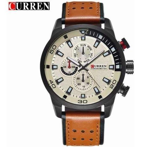 Imagem 1 de 3 de Relógio Masculino Casual Curren Casual 8250 Fundo Branco