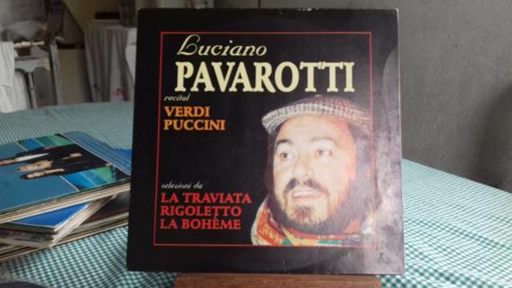 Lp Luciano Pavarotti - Recital Verdi Puccini