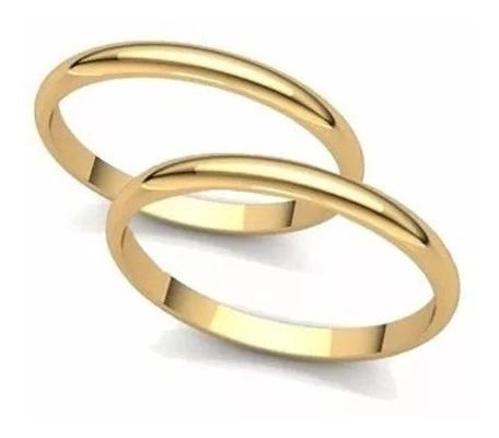 Alianças De Ouro 18k Casamento Com Solitário De Brinde