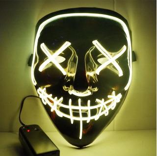 Mascara Led Neon Festa Balada Rave Jabbawockeez Sem Face
