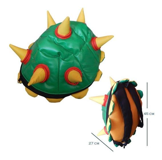 Super Mario Bros Mochila Backpack Caparazon Bowser Koopa