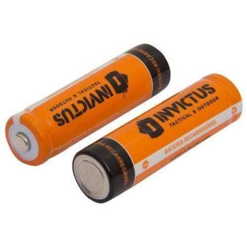 Pilhas Aa 14500 Bateria Recarregável Invictus 3.7v(par)