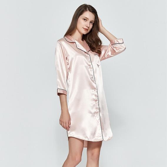 Camisón Para Dormir Alta Calidad Satin Mujer Sexy. Pijama