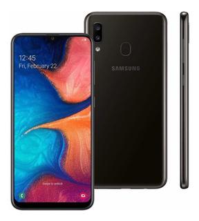 Samsung A20 32gb Tela 6.4 Cartão 32gb E Pelicula Brinde