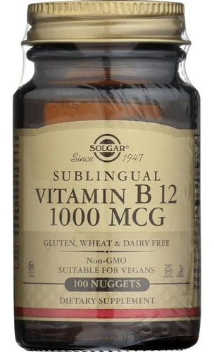 Vitamin B12 Sublingual - 1000 Mcg - 100 Pastillas
