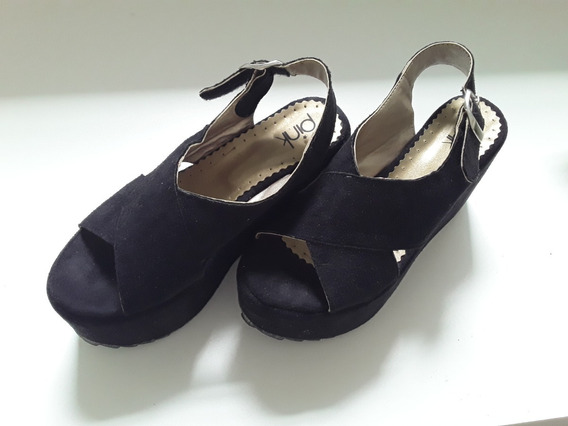 Zapatos Sandalias Negros - Mujer - Plataforma