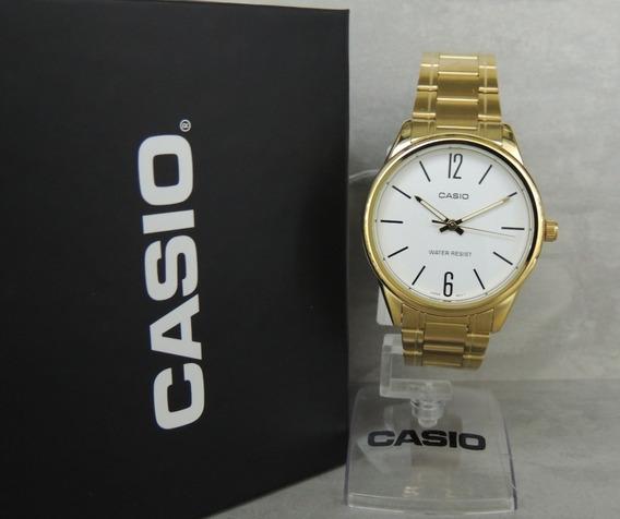 Relógio Casio Masculino - Mtp-v005g-7budf - Nfe - Lançamento