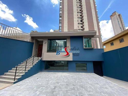 Imagem 1 de 13 de Sobrado Para Alugar, 490 M² Por R$ 18.000,00/mês - Jardim Anália Franco - São Paulo/sp - So1653