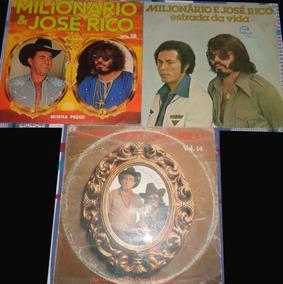 3 Lps Milionário E José Rico- Sertanejo