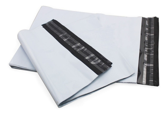 100 Und Saco Plastico Com Lacre 32x40