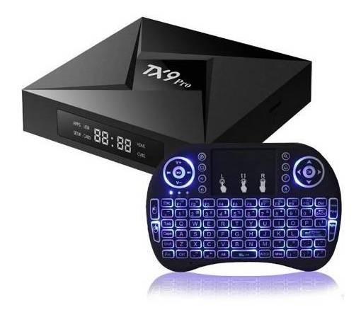 Tv Box Tx9 Pro 32gb 4ram + Teclado Mini Luminoso Led