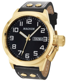 Relógio Magnum Masculino Couro - Ma32756u