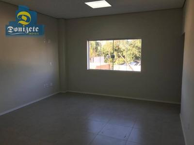 Salão Para Alugar, 187 M² Por R$ 3.300/mês - Jardim - Santo André/sp - Sl0071