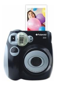 Câmera Polaroid Instantânea Pic 300 Preta + Filmes De Brinde
